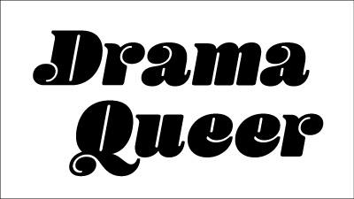 Drama Queer t-shirt design process: skewing the design