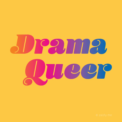 """t-shirt design with the text """"drama queer"""""""