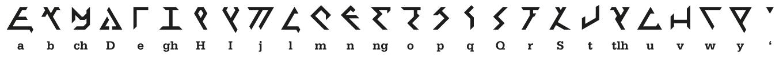 Klingon font 'eSter pIqaD jej (sharp). Designed by Esther Lemmens ©2020